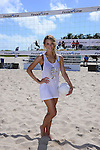MIAMI BEACH, FL - FEBRUARY 20: Hannah Ferguson participates in Sports Illustrated Swimsuit 2014 Beach Volleyball:Models & Celebrity Chefs on February 20, 2014 in Miami Beach, Florida. (Photo by Johnny Louis/jlnphotography.com)