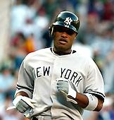 Washington, D.C. - June 16, 2006 -- New York Yankee infielder Robinson Cano (22) scores their first run against the Washington Nationals at RFK Stadium in Washington, D.C. on June 16, 2006..Credit: Ron Sachs / CNP