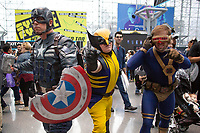 NEW YORK, USA - October 3: People pose for pictures during day one of New York Comic Con at the Jacob K. Javits Convention Center on Oct. 3, 2019 in New York.<br /> The 2019 New York Comic-Con at the Jacob K. Javits Convention Center Day 1 with the latest in superhero movies, sci-fi shows, animation, video games, comic book releases available to attendees.<br /> (Photo by Luis Boza/VIEWpress/Corbis via Getty Images)