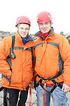 William Kierans and Robert Cassidy who abseiled off the roof of the D Hotel to raise money for Drogheda Animal Rescue...Picture Jenny Matthews/Newsfile.ie
