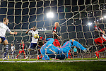 Swansea goalkeeper Lukasz Fabianski keeps out an effort from West Brom goalscorer Brown Ideye - Premier League Football - West Bromwich Albion vs Swansea City - The Hawthorns West Bromwich - Season 2014/15 - 11th February 2015 - Photo Malcolm Couzens/Sportimage