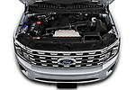 Car stock 2018 Ford Expedition Limited 5 Door SUV engine high angle detail view