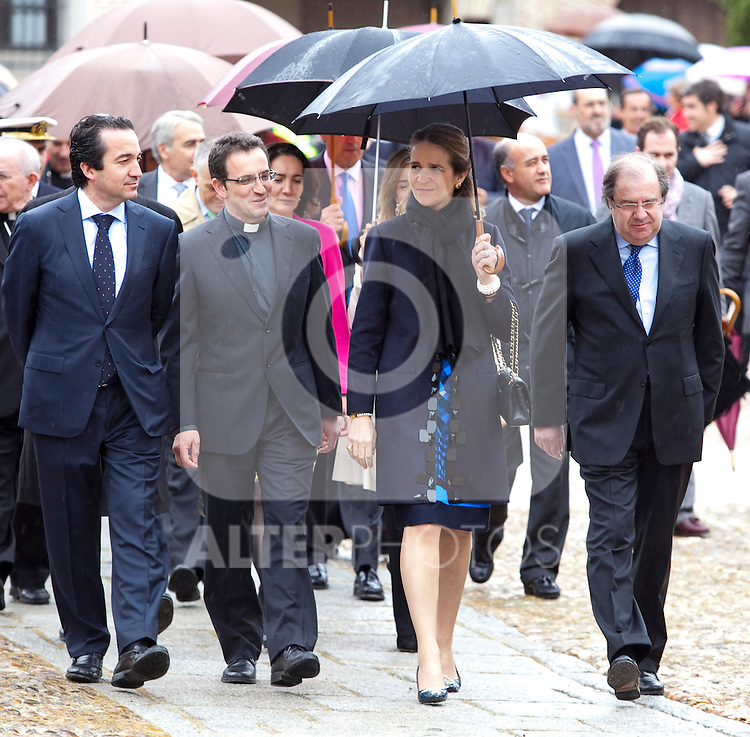 "Princess Elena of Spain attends the inauguration of ""Credo"" exhibition in the ""Edades del Hombre"" foundation in Arevalo, Avila. May 21, 2013. (Victor Blanco/Alterphotos)"