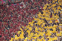 Roma's supporters during the Champions League Group E soccer match between As Roma and FC Bayern Munchen at the Olympic Stadium in Rome october 21 , 2014.