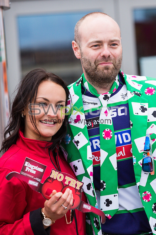 Picture by Alex Whitehead/SWpix.com - 24/05/2015 - Rugby League - Kingstone Press Championship Summer Bash - Doncaster RLFC v Hunslet Hawks - Bloomfield Road, Blackpool, England - fans, supporters.