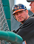 14 March 2009: Baltimore Orioles' first baseman Aubrey Huff awaits his turn in the batting cage prior to a Spring Training game against the Boston Red Sox at Fort Lauderdale Stadium in Fort Lauderdale, Florida. The Orioles defeated the Red Sox 9-8 in the Grapefruit League matchup. Mandatory Photo Credit: Ed Wolfstein Photo