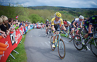 Wilco Kelderman (NLD/LottoNL-Jumbo) up La Redoute (1650m/9.7%) next to compatriot Bauke Mollema (NLD/Trek Factory Racing)<br /> <br /> 101th Liège-Bastogne-Liège 2015