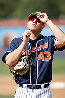Jake Vasquez of the Cal State Fullerton Titans during a game against the Rice Owls at Goodwin Field on March 4, 2007 in Fullerton, California. (Larry Goren/Four Seam Images)