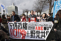 Protests against Abe administration in Tokyo