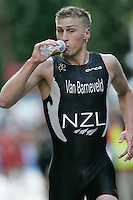 31 AUG 2007 - HAMBURG, GER - Martin van Barneveld (NZL) - Under 23 Mens World Triathlon Championships. (PHOTO (C) NIGEL FARROW)
