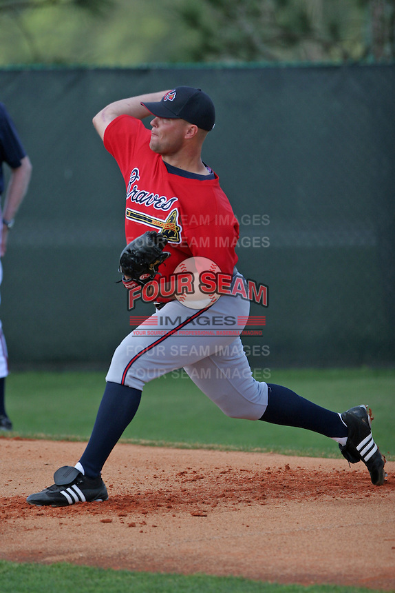 Atlanta Braves minor leaguer Jeff Bennett during Spring Training at Disney's Wide World of Sports on March 15, 2007 in Orlando, Florida.  (Mike Janes/Four Seam Images)
