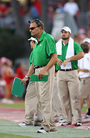 Denton, TX - OCTOBER 6: Dan McCarney head coach of the North Texas Mean Green reacts during the game against the Houston Cougars at Robertson Stadium in Houston on October 6, 2012 in Houston, Texas. Photo by: Rick Yeatts