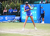 June 16th 2017, Nottingham, England; WTA Aegon Nottingham Open Tennis Tournament day 5;  Donna Vekic of Croatia in action in the quarter finals against Maria Sakkari of Greece