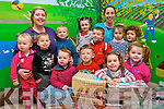 Children at Ballyspillane Childcare Centre have shared the Christmas spirit with children around the world by donating to the Team Hope Shoebox appeal. <br /> Front L-R Kathleen O'Brien, Brian Slabys, John Mongan, Anthony O'Brien, Christina O'Neill and Cianna O'Brien. <br /> Back L-R Ciara Devane, Aidan Slabys, Mariah Dooley, Patrick O'Brien, Mary Kate O'Neill, Paddy Moloney and Jackie O'Sullivan.
