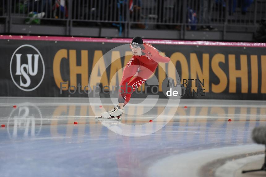 SPEED SKATING: HAMAR: Vikingskipet, 04-03-2017, ISU World Championship Allround, 5000m Men, Sindre Hendriksen (NOR), ©photo Martin de Jong