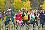 Maeve O'Connor Gneeveguilla leads the way during the u11 relay in the Kerry Cross Country finals in Killarney on Sunday..