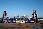 Musicians perform along the boardwalk at San Felipe, Baja California, Mexico during the annual Shrimp Festival.