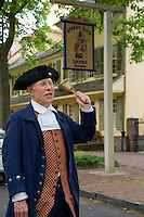 Reenactor, playing the role of Town Crier, Indian King Tavern Museum, New Jersey State Historic Site, Haddonfield, New Jersey