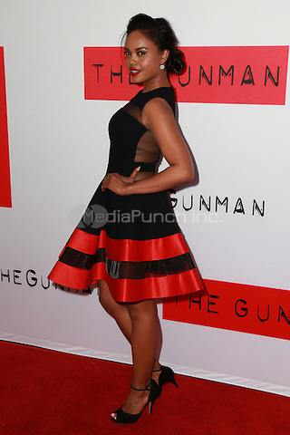 Sharon Leal at the premiere of Open Road Films' 'The Gunman' at Regal Cinemas L.A. Live on March 12, 2015 in Los Angeles, California. Credit: David Edwards/DailyCeleb/MediaPunch