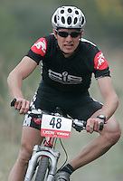 07 APR 2007 - THETFORD, UK - Stuart Wearmouth - British Mountain Bike X Country series Round 1 Race 2. (PHOTO (C) NIGEL FARROW)