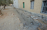 Pictured: A ditch dug up by police officers behind the farmhouse site where Ben Needham disappeared from in Kos, Greece. <br />Re: The search for missing Ben Needham led by South Yorkshire Police has concluded on the Greek island of Kos.<br />Ben, from Sheffield, was 21 months old when he disappeared on 24 July 1991 during a family holiday.<br />Digging took place around the farmhouse where Ben Needham was last seen and at a new site after a fresh line of inquiry suggested he could have been crushed by a digger.