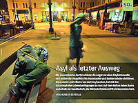 German regional newspaper Hannoversche Allgemeine on Roma migration from Serbia, 10.2012, App edition. <br />