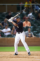 Scottsdale Scorpions Miguel Andujar (18), of the New York Yankees organization, during the Bowman Hitting Challenge on October 8, 2016 at the Salt River Fields at Talking Stick in Scottsdale, Arizona.  (Mike Janes/Four Seam Images)
