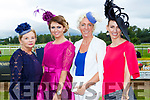 The finalists in the best dressed at ladies day at  Killarney Races on Saturday l-r: Maura O'Riordan Killarney, Norelle Murphy Rathmore, Katie Fox Killarney and Maria McMahon Glenflesk