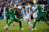 Seattle, WA - Tuesday June 14, 2016: Argentina forward Sergio Aguero (11) works to maintain possession during a Copa America Centenario Group D match between Argentina (ARG) and Bolivia (BOL) at CenturyLink Field