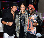HOLLYWOOD, FL - NOVEMBER 13: YNIQ, Ja'Rae Womack and Urban Mystic pose for picture before performing live with a Bigg D. live band at Hollywood Live at Hollywood Live on Thursday November 13, 2014 in Coral Gables, Florida. (Photo by Johnny Louis/jlnphotography.com)