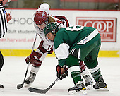 Jillian Dempsey (Harvard - 14), Jenna Hobeika (Dartmouth - 6) - The visiting Dartmouth College Big Green defeated the Harvard University Crimson 3-2 on Wednesday, November 23, 2011, at Bright Hockey Center in Cambridge, Massachusetts.