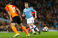 Kevin De Bruyne of Manchester City during the UEFA Champions League Group C match between Manchester City and Shakhtar Donetsk at the Etihad Stadium on November 26th 2019 in Manchester, England. (Photo by Daniel Chesterton/phcimages.com)