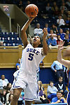 17 November 2012: Duke's Sierra Moore. The Duke University Blue Devils played the Presbyterian College Blue Hose at Cameron Indoor Stadium in Durham, North Carolina in an NCAA Division I Women's Basketball game. Duke won the game 84-45.