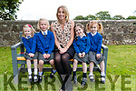 Junior Infants atarting school in Kiltallagh National School, Castlemaine pictured with their teacher, Caroline Cronin