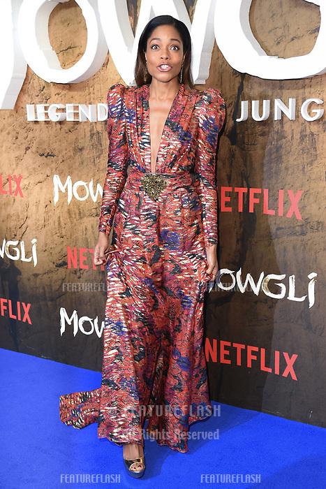 LONDON, UK. December 04, 2018: Naomie Harris at the&quot;Mowgli: Legend of the Jungle&quot; premiere at the Curzon Mayfair, London.<br /> Picture: Steve Vas/Featureflash
