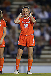 20 October 2013: Clemson's Claire Wagner. The University of North Carolina Tar Heels hosted the University of Virginia Cavaliers at Fetzer Field in Chapel Hill, NC in a 2013 NCAA Division I Women's Soccer match. North Carolina won the game 2-0.