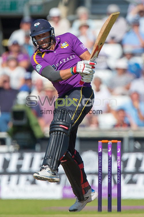Picture by Alex Whitehead/SWpix.com - 06/09/2015 - Cricket - Royal London One-Day Cup, Semi-Final - Yorkshire CCC v Gloucestershire CCC - Headingley Cricket Ground, Leeds, England - Yorkshire's Tim Bresnan hits out.