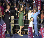 Boston, MA - July 29, 2004 -- United States Senator John Edwards (Democrat of North Carolina) and his family after he gave his acceptance speech at the 2004 Democratic National Convention..Credit: Ron Sachs / CNP
