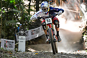 10th September 2017, Smithfield Forest, Cairns, Australia; UCI Mountain Bike World Championships; Gee Atherton (GBR) riding for Trek Factory Racing DH during the elite mens downhill race;