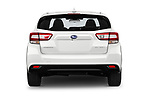 Straight rear view of 2018 Subaru Impreza Premium 5 Door Hatchback Rear View  stock images