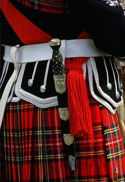 Scottish Dirk and kilt, Inverness, Scotland.