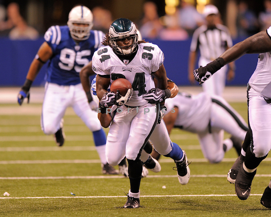 ELDRA BUCKLEY,of the Philadelphia Eagles  in action  during the Eagles  game against the Indianapolis Colts on August 20, 2009 in  Indianapolis, IN  The Colts beat  the Eagles 23-15.