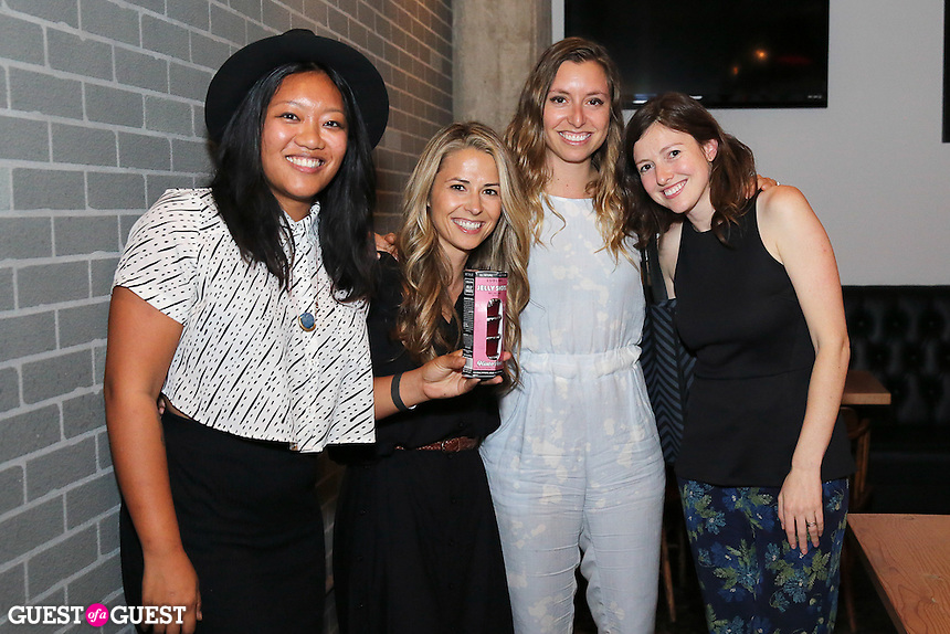 Freya Estreller, Marlene Marchewka, Natasha Case and Dani Fisher attend the Ludlows Jelly Shots Cocktail Crawl at Peking Tavern on August 27, 2014.