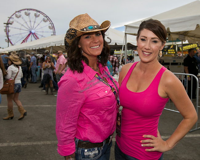 Jessica and Courtney during the Reno Rodeo Nevada Pink Night on Friday, June 28, 2019.
