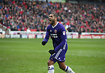 Leon Clarke of Sheffield Utd celebrates his goal during the championship match at the Oakwell Stadium, Barnsley. Picture date 7th April 2018. Picture credit should read: Simon Bellis/Sportimage