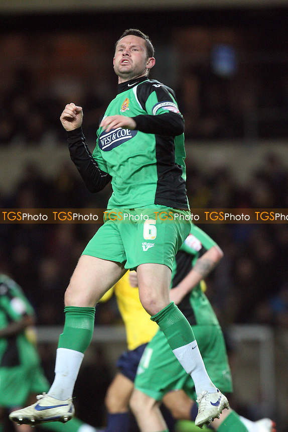 Mark Arber of Dagenham and Redbridge celebrates scoring the Daggers goal goal -  Oxford United vs Dagenham and Redbridge- at the Kassam Stadium - 14/02/12 - MANDATORY CREDIT: Dave Simpson/TGSPHOTO - Self billing applies where appropriate - 0845 094 6026 - contact@tgsphoto.co.uk - NO UNPAID USE.