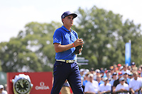Rickie Fowler (USA) walks off the 1st tee during Friday's Round 2 of the 2017 PGA Championship held at Quail Hollow Golf Club, Charlotte, North Carolina, USA. 11th August 2017.<br /> Picture: Eoin Clarke | Golffile<br /> <br /> <br /> All photos usage must carry mandatory copyright credit (&copy; Golffile | Eoin Clarke)