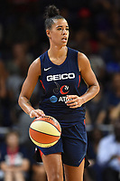 Washington, DC - Aug 8, 2019: Washington Mystics guard Natasha Cloud (9) during 2nd half action of game between the Indiana Fever and the Washington Mystics. The Mystics defeat the Fever 91-78 at the Entertainment & Sports Arena in Washington, DC. (Photo by Phil Peters/Media Images International)