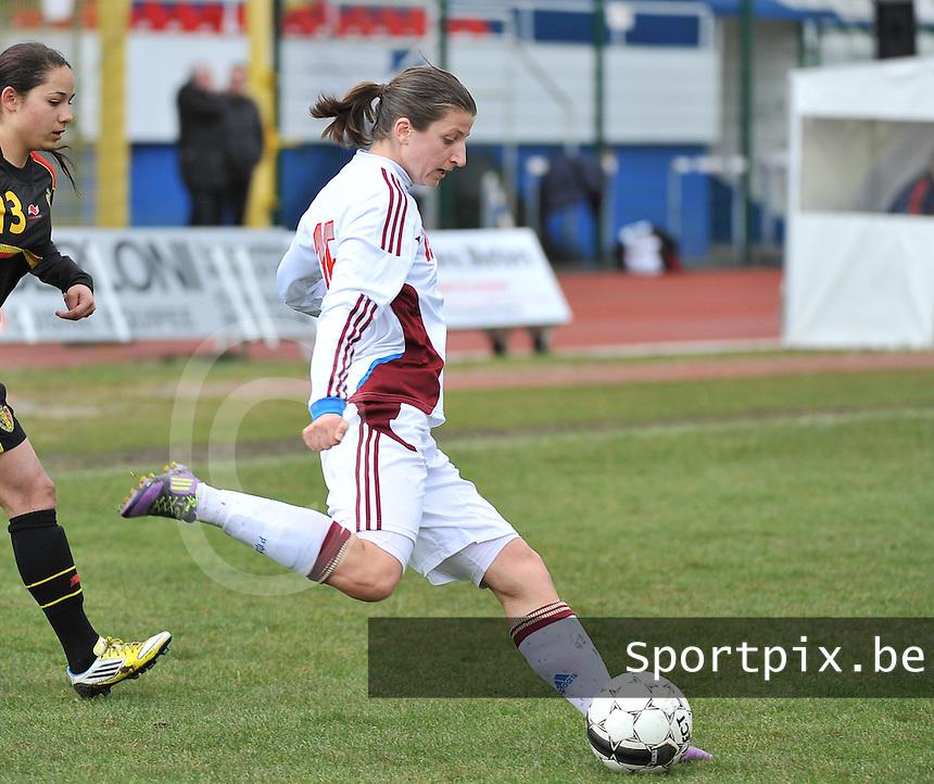 Russia U19 - Belgium U19 : Elina Samoilova (15).foto DAVID CATRY / Nikonpro.be