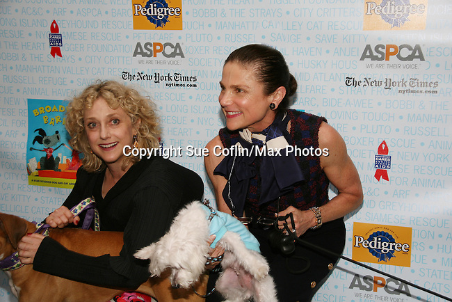 """Carol Kane and Tovah Feldshuh - AMC - ATWT and Ryan's Hope at Broadway Barks 11 - a """"Pawpular"""" star-studded dog and cat adopt-a-thon on July 11, 2009 in Shubert Alley, New York City, NY. (Photo by Sue Coflin/Max Photos)"""